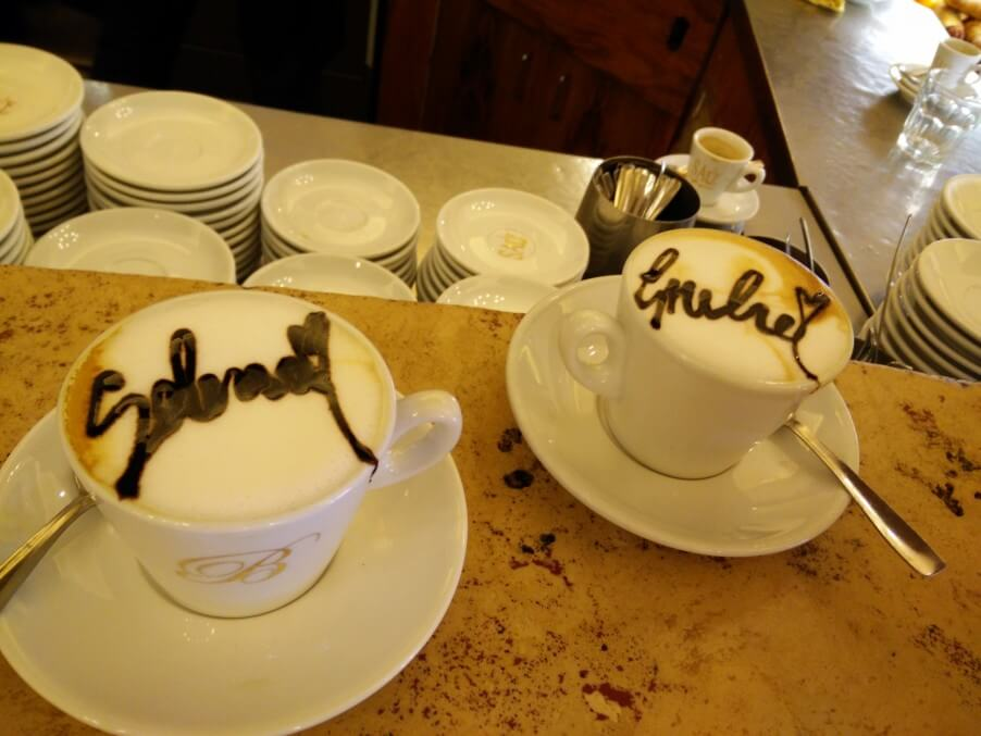 Your name written on a Cappuccino