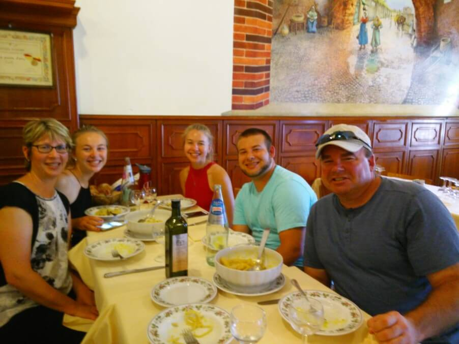off the beaten path food tour lunch in rome